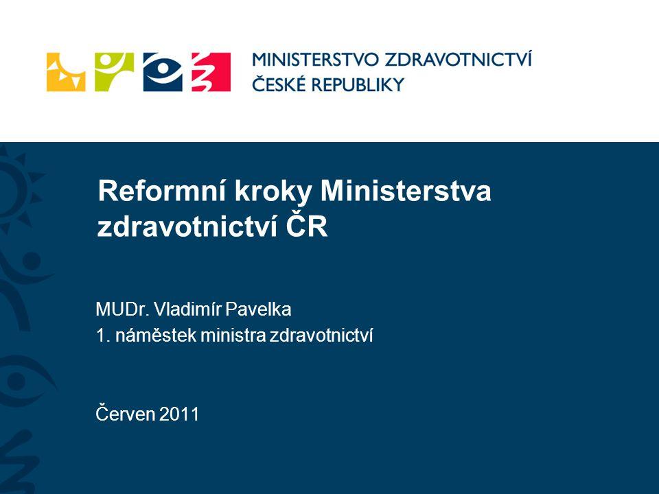 Reformní kroky Ministerstva zdravotnictví ČR MUDr.