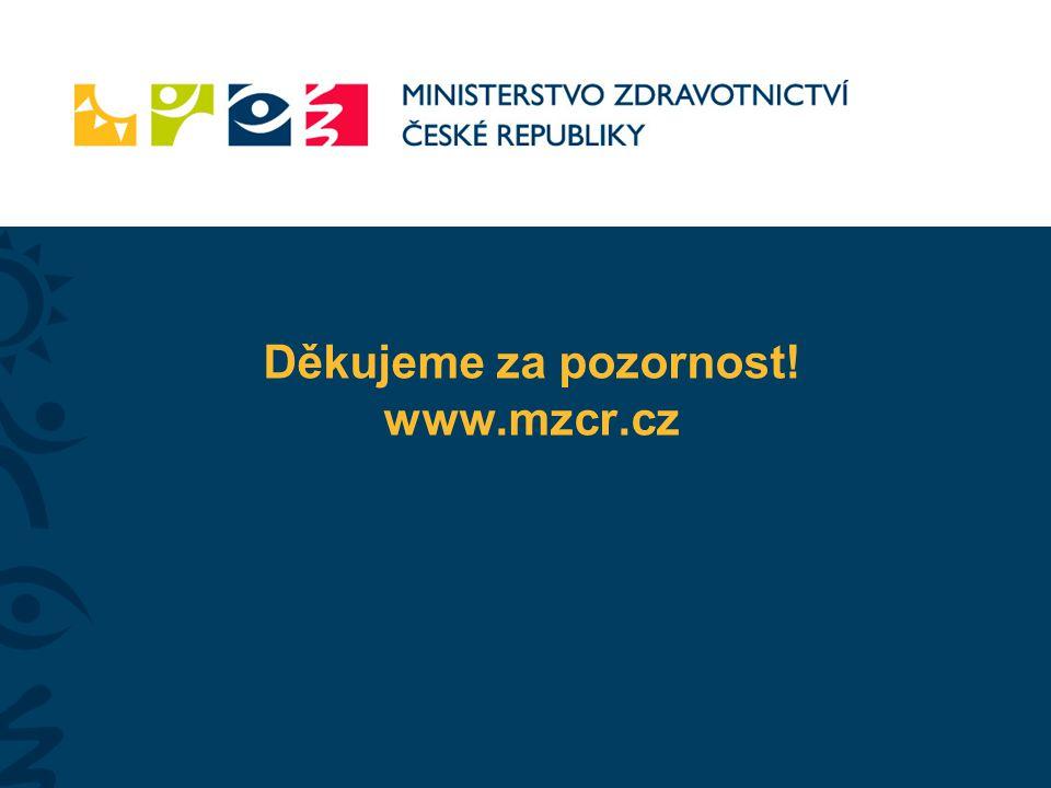 Děkujeme za pozornost! www.mzcr.cz