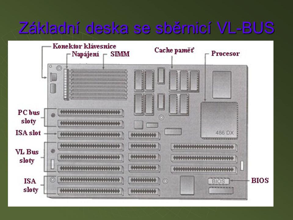Blokové schéma základní desky se sběrnicí(ISA)
