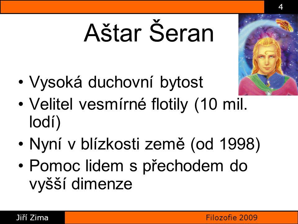 Filozofie 2009 Jiří Zima 4 Aštar Šeran Vysoká duchovní bytost Velitel vesmírné flotily (10 mil.