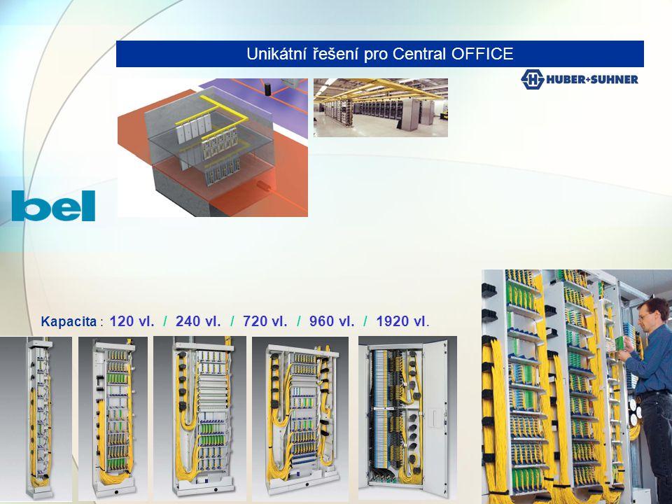 17 Unikátní řešení pro Central OFFICE Kapacita : 120 vl. / 240 vl. / 720 vl. / 960 vl. / 1920 vl.