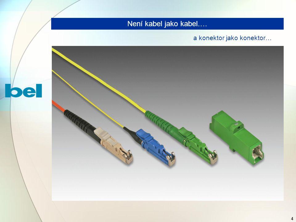 4 Není kabel jako kabel…. a konektor jako konektor…