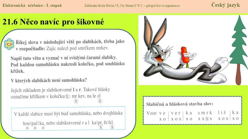 21.5 Procvičení a příklady Elektronická učebnice - I. stupeň Základní škola Děčín VI, Na Stráni 879/2 – příspěvková organizace Český jazyk http://dum.