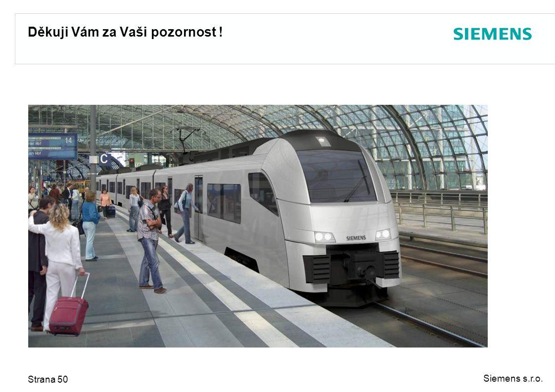 Siemens s.r.o. Strana 50 Děkuji Vám za Vaši pozornost !