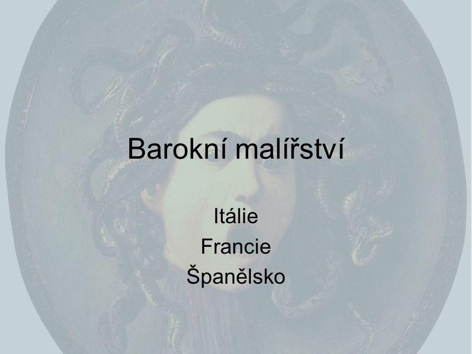Barokní malířství Itálie Francie Španělsko