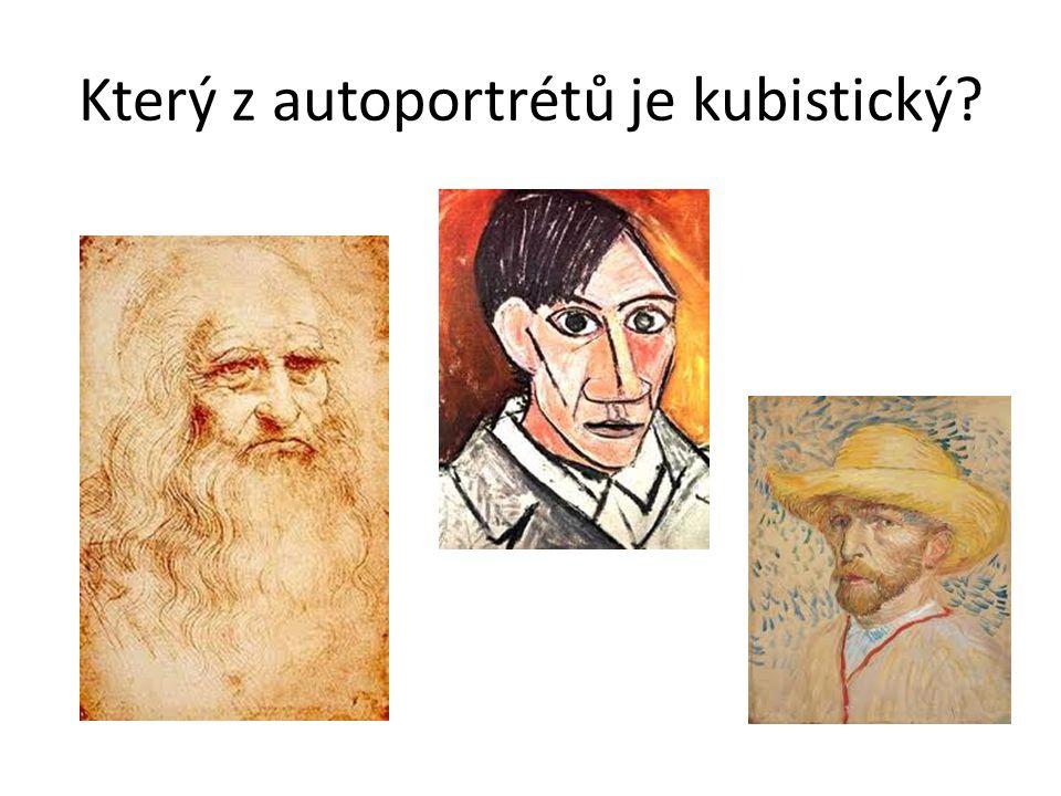 Který z autoportrétů je kubistický?