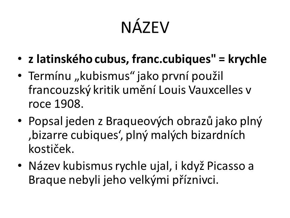 NÁZEV z latinského cubus, franc.cubiques