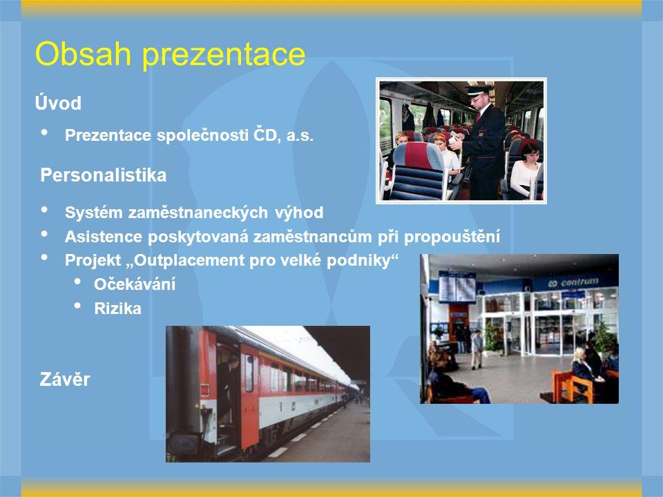 Obsah prezentace Úvod Prezentace společnosti ČD, a.s.