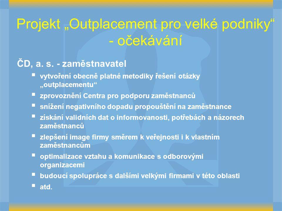 """Projekt """"Outplacement pro velké podniky - očekávání ČD, a."""