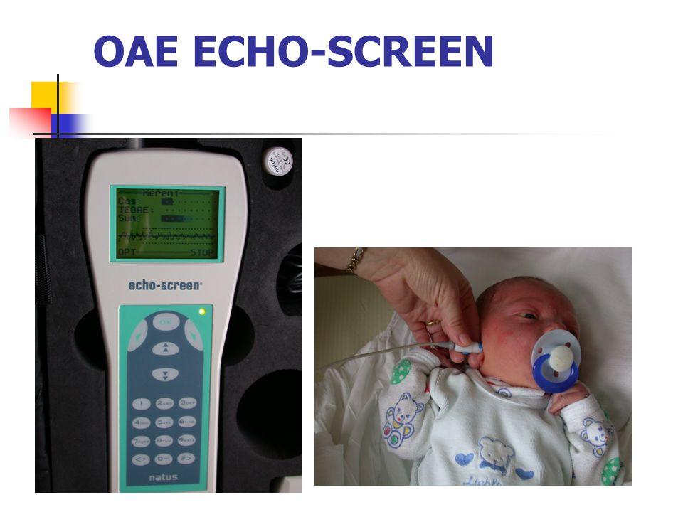 1.8.2007 zahájen celoplošný screening sluchu u novorozenců novorozenecká sestra 2.