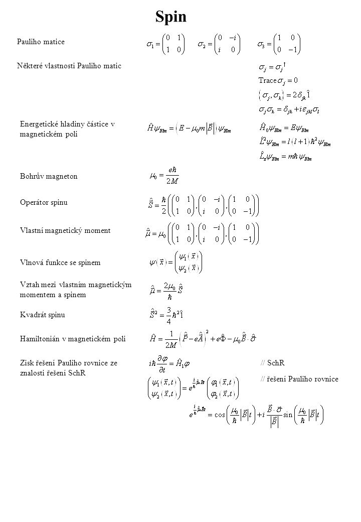 Klasický 1D oscilátor Celková energie Perioda Hustota pravděpodobnosti nalezení v Hamiltonián