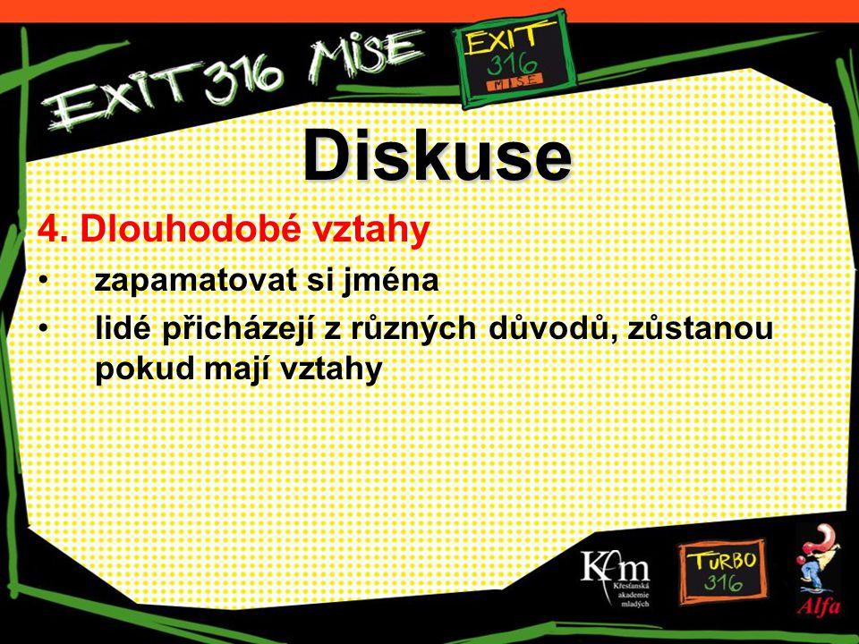 Diskuse 4. Dlouhodobé vztahy zapamatovat si jména lidé přicházejí z různých důvodů, zůstanou pokud mají vztahy