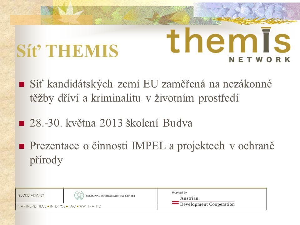 Budapest, 9-10th May 2012 SECRETARIAT BY PARTNERS: INECE ● INTERPOL ● FAO ● WWF TRAFFIC Síť THEMIS Síť kandidátských zemí EU zaměřená na nezákonné těž