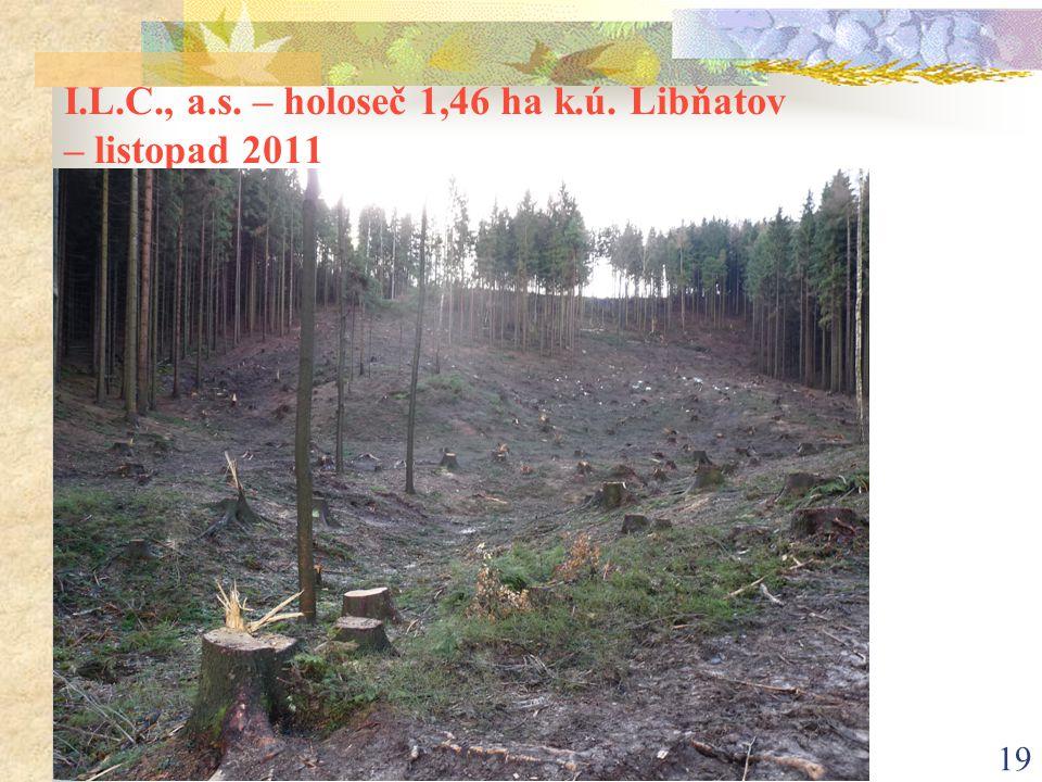 19 I.L.C., a.s. – holoseč 1,46 ha k.ú. Libňatov – listopad 2011