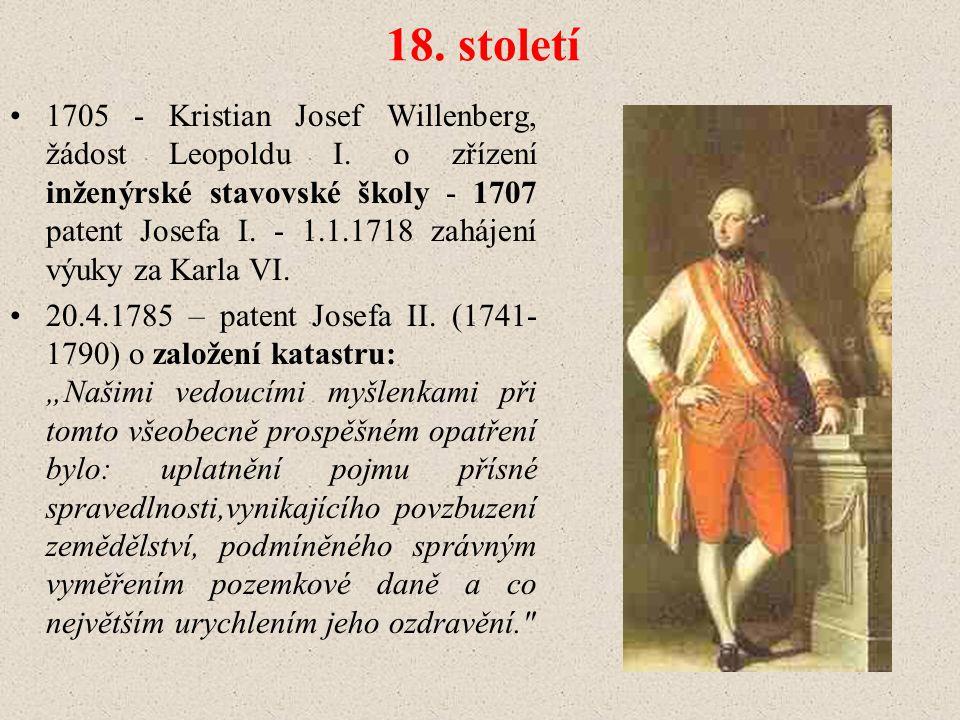 18.století 1705 - Kristian Josef Willenberg, žádost Leopoldu I.