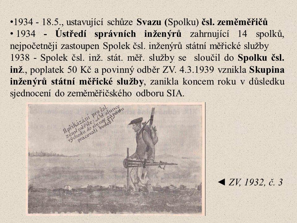 1934 - 18.5., ustavující schůze Svazu (Spolku) čsl.