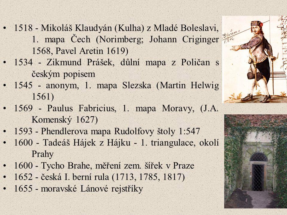 1518 - Mikoláš Klaudyán (Kulha) z Mladé Boleslavi, 1.