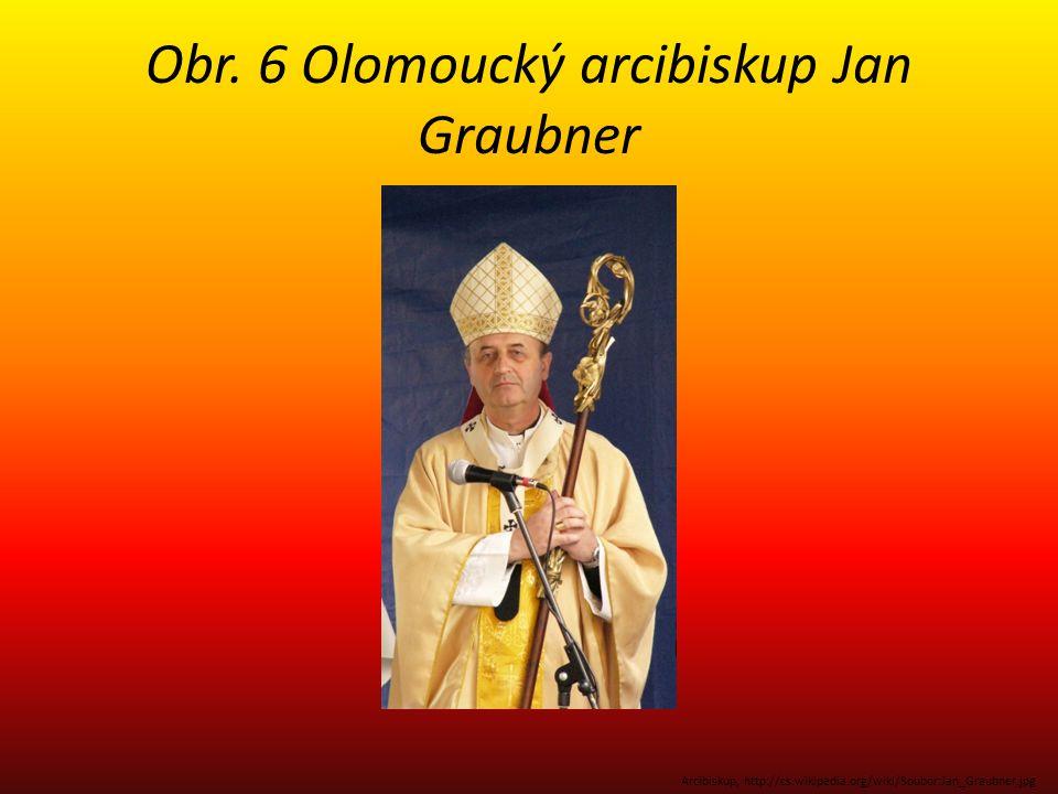 Obr. 6 Olomoucký arcibiskup Jan Graubner Arcibiskup, http://cs.wikipedia.org/wiki/Soubor:Jan_Graubner.jpg