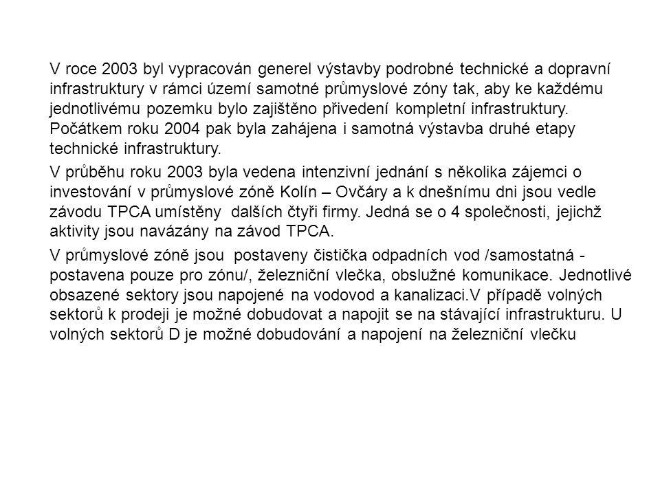 Průmyslová zóna Kolín byla podpořena v rámci Programu na podporu rozvoje průmyslových nemovitostí ze dne 3/2006.
