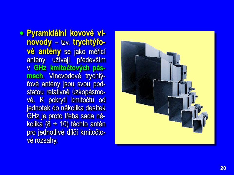 20  Pyramidální kovové vl- novody – tzv.