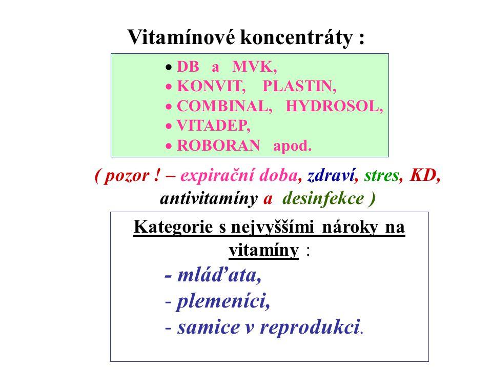 Vitamíny patří mezi velice labilní látky, citlivé na : kyslík UV paprsky vysokou teplotu drastické změny pH kontakt s mikroelemenmty Ochrana vitamínů