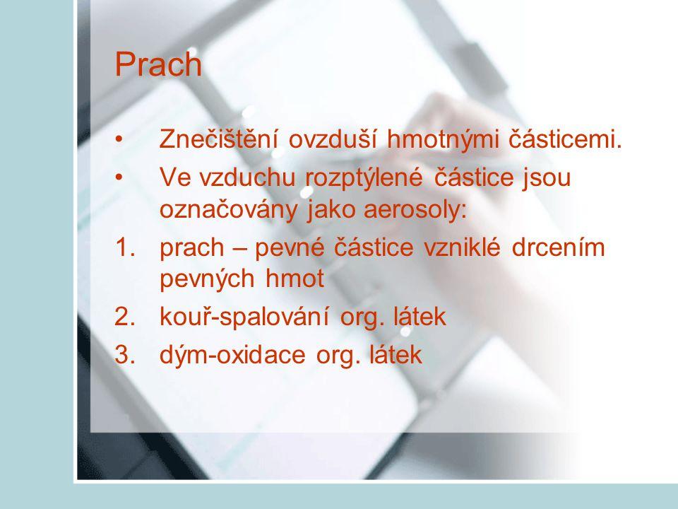 Zařazení prací podle rozhodujících faktorů PRACH