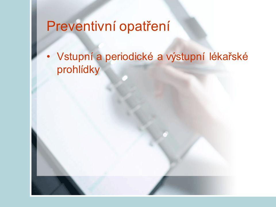 Náhradní opatření Používání OOPP (kukly, masky, respirátory) Takové, které jsou určeny pro daný druh prachu!