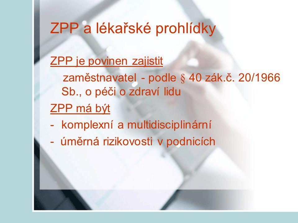 Právní zakotvení hodnocení rizik § 40 zák.č. 258/2000 Sb., v pl.
