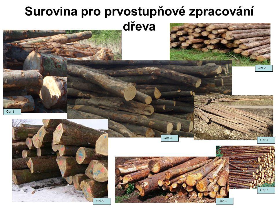 Surovina pro prvostupňové zpracování dřeva Obr.1 Obr.3 Obr.2 Obr.4 Obr.5Obr.6 Obr.7
