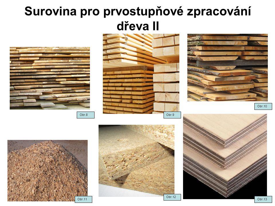 Surovina pro prvostupňové zpracování dřeva II Obr.8Obr.9 Obr.10 Obr.11 Obr.12 Obr.13