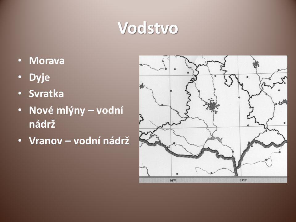 Vodstvo Morava Dyje Svratka Nové mlýny – vodní nádrž Vranov – vodní nádrž