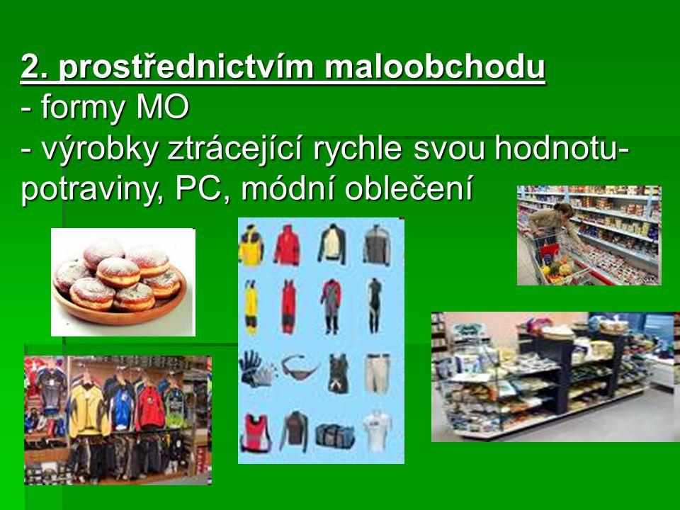 3.Pomocí zprostředkovatele - hledá pro výrobce odběratele a pro velkoobchod výhodné dodávky 4.