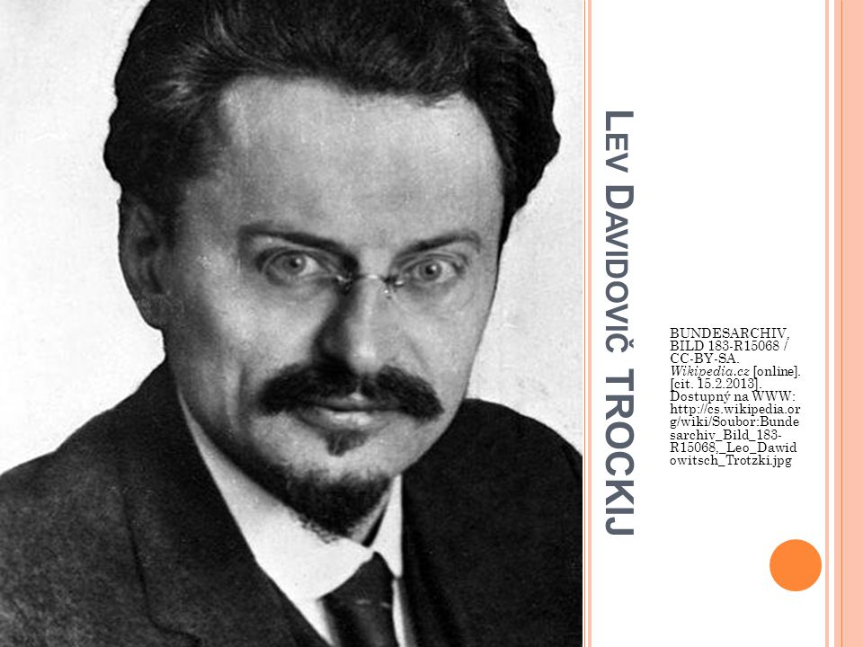 L EV D AVIDOVIČ TROCKIJ BUNDESARCHIV, BILD 183-R15068 / CC-BY-SA.
