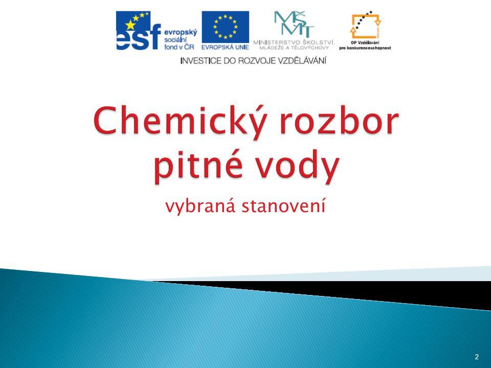 HORÁKOVÁ, Marta.Analytika vody. 2. vyd. Praha: Vydavatelství VŠCHT Praha, 2007.