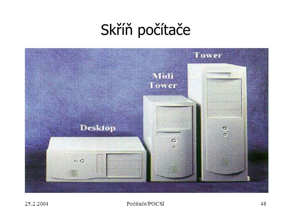 25.2.2004Počítače/POCSI48 Skříň počítače