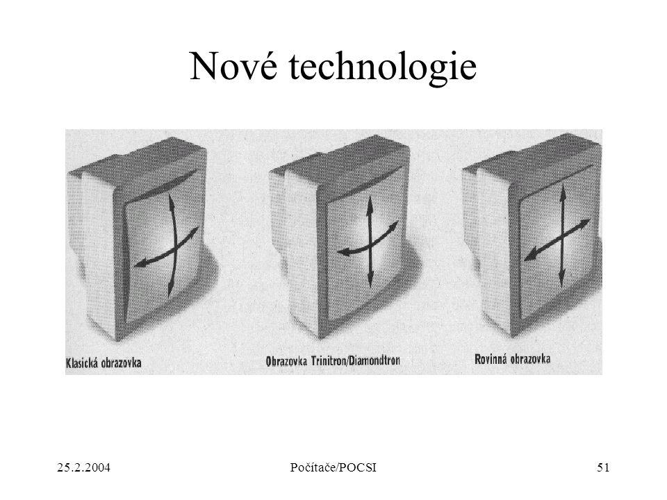 25.2.2004Počítače/POCSI51 Nové technologie
