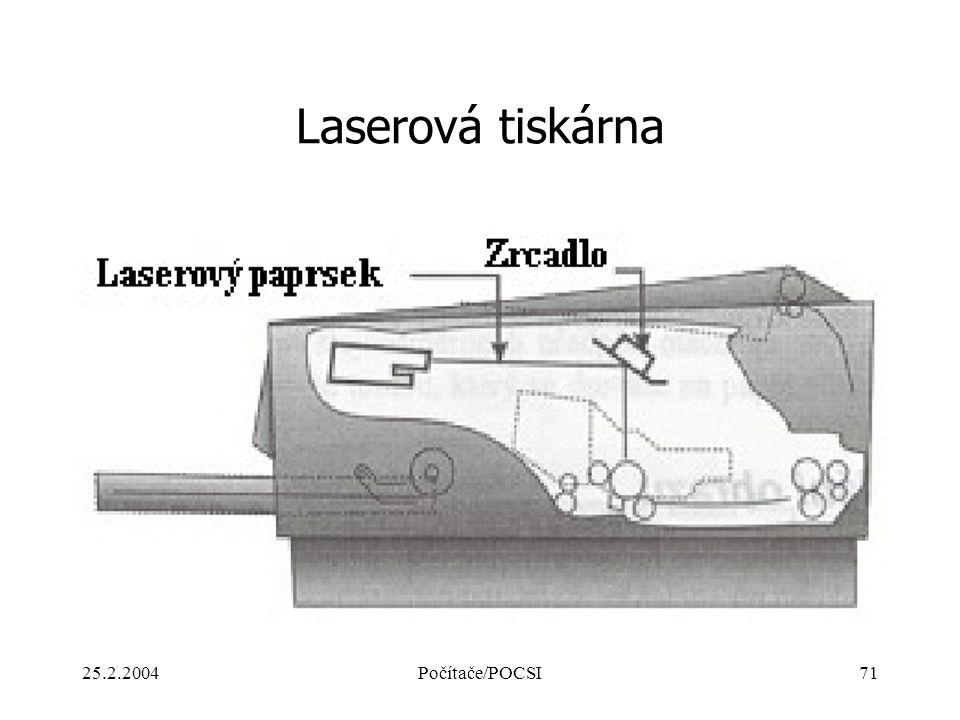 25.2.2004Počítače/POCSI71 Laserová tiskárna