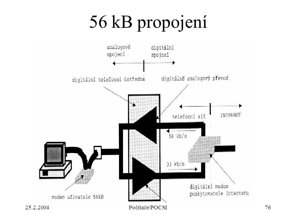 25.2.2004Počítače/POCSI76 56 kB propojení
