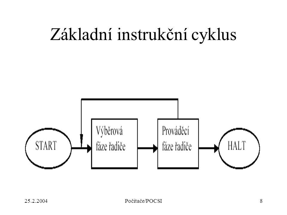 25.2.2004Počítače/POCSI8 Základní instrukční cyklus
