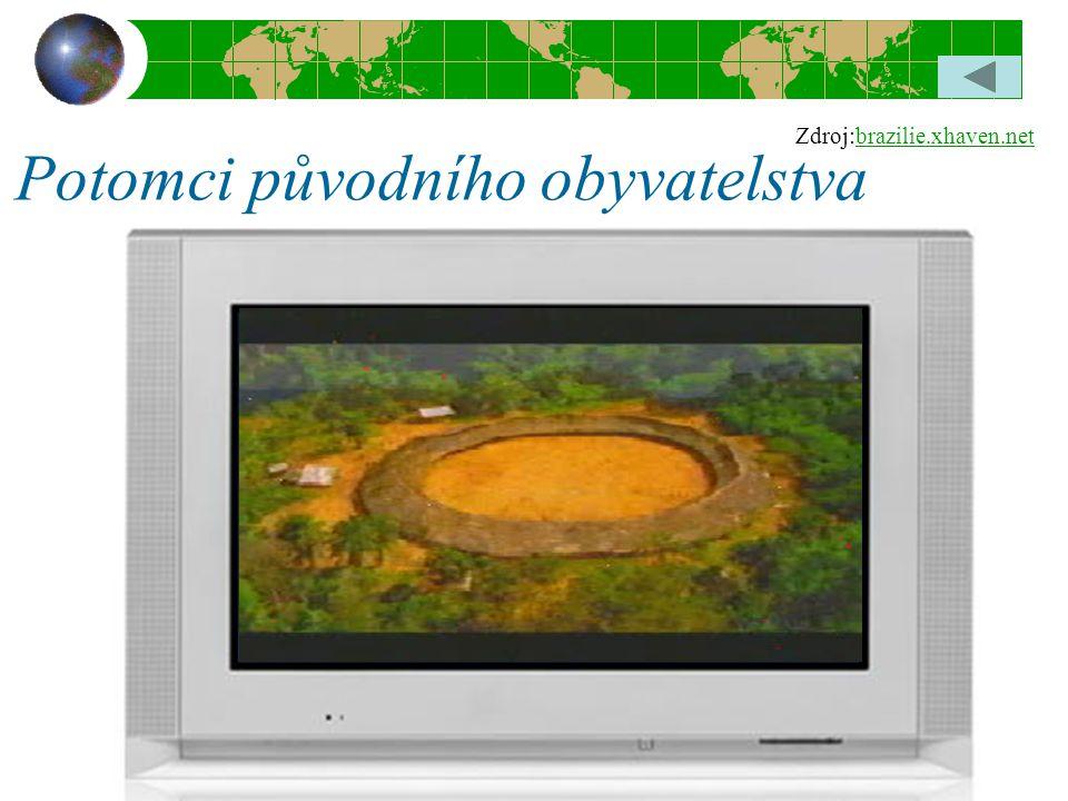 Potomci původního obyvatelstva Zdroj:brazilie.xhaven.netbrazilie.xhaven.net
