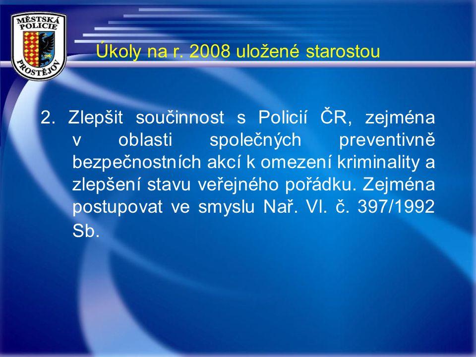 Úkoly na r. 2008 uložené starostou 2.