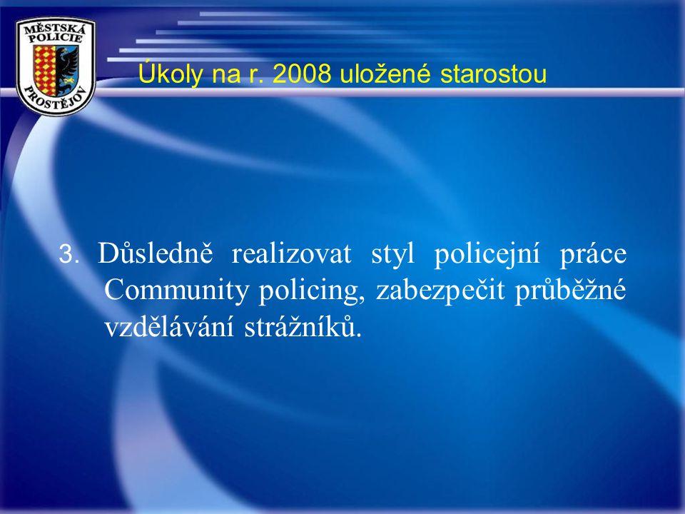 Úkoly na r. 2008 uložené starostou 3.