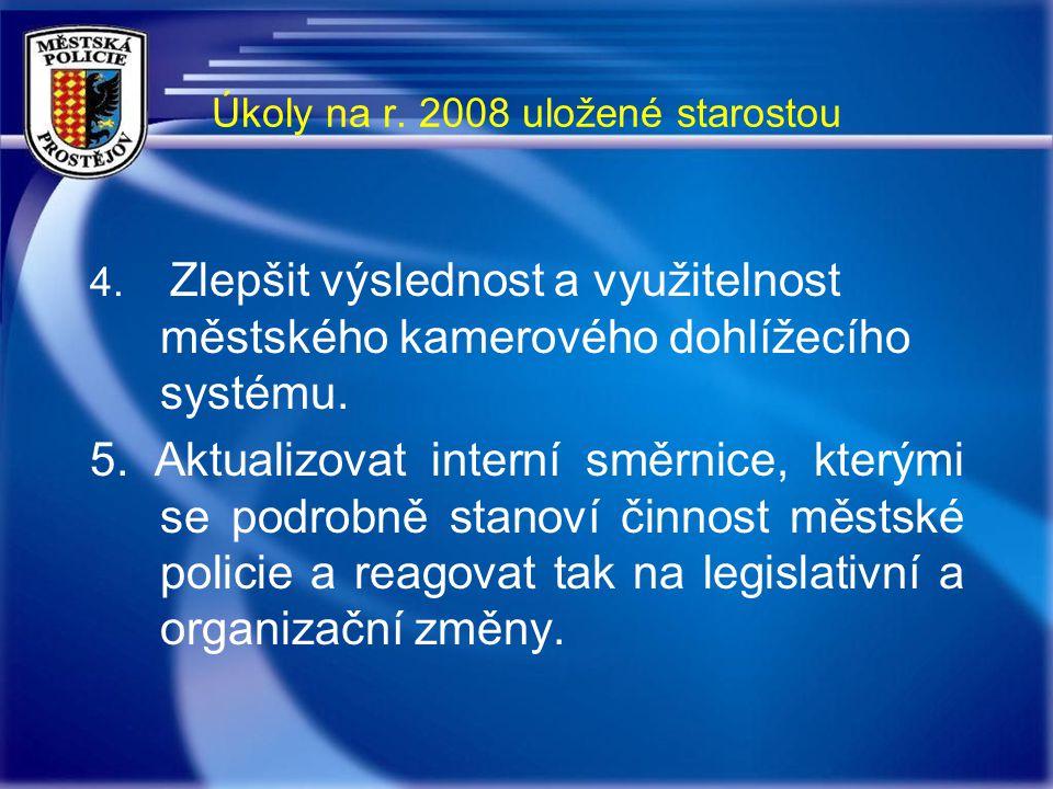 Úkoly na r. 2008 uložené starostou 4.