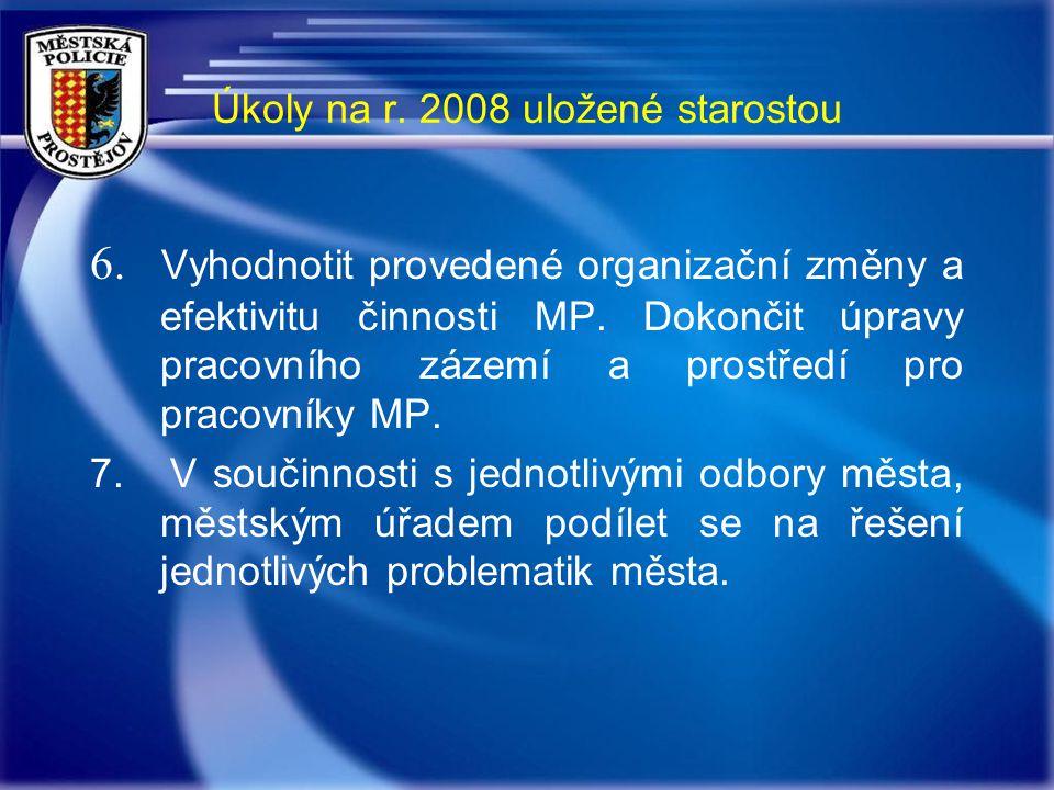 Úkoly na r. 2008 uložené starostou 6.