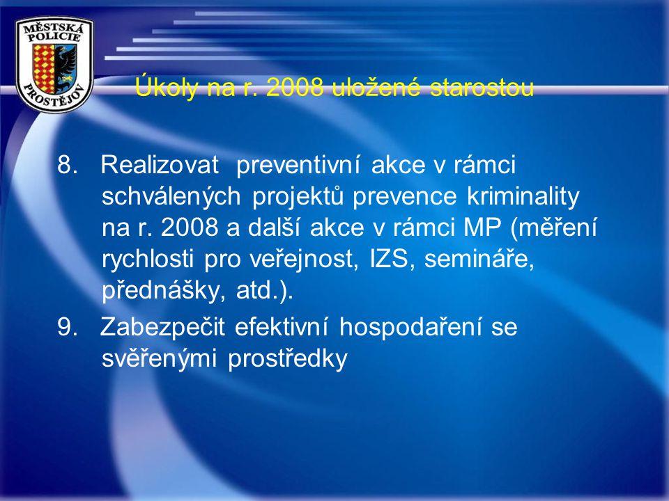 Úkoly na r. 2008 uložené starostou 8.