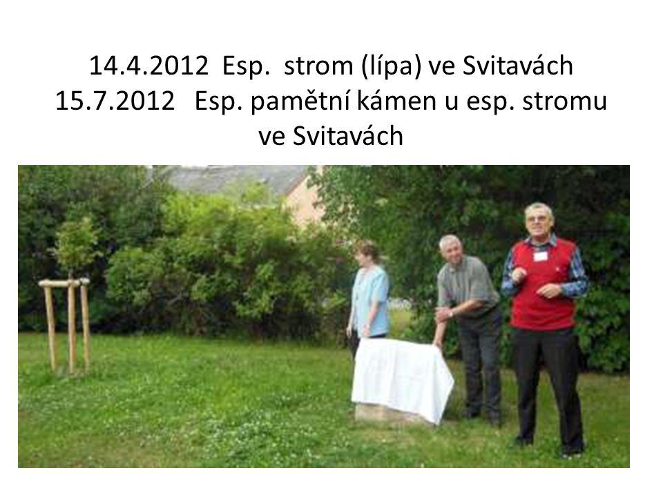 14.4.2012 Esp.strom (lípa) ve Svitavách 15.7.2012 Esp.