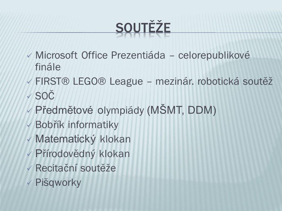 Microsoft Office Prezentiáda – celorepublikové finále FIRST® LEGO® League – mezinár.