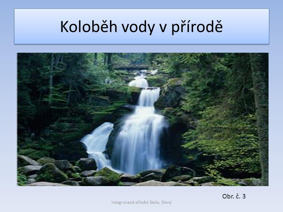 Koloběh vody v přírodě Obr. č. 3 Integrovaná střední škola, Slaný