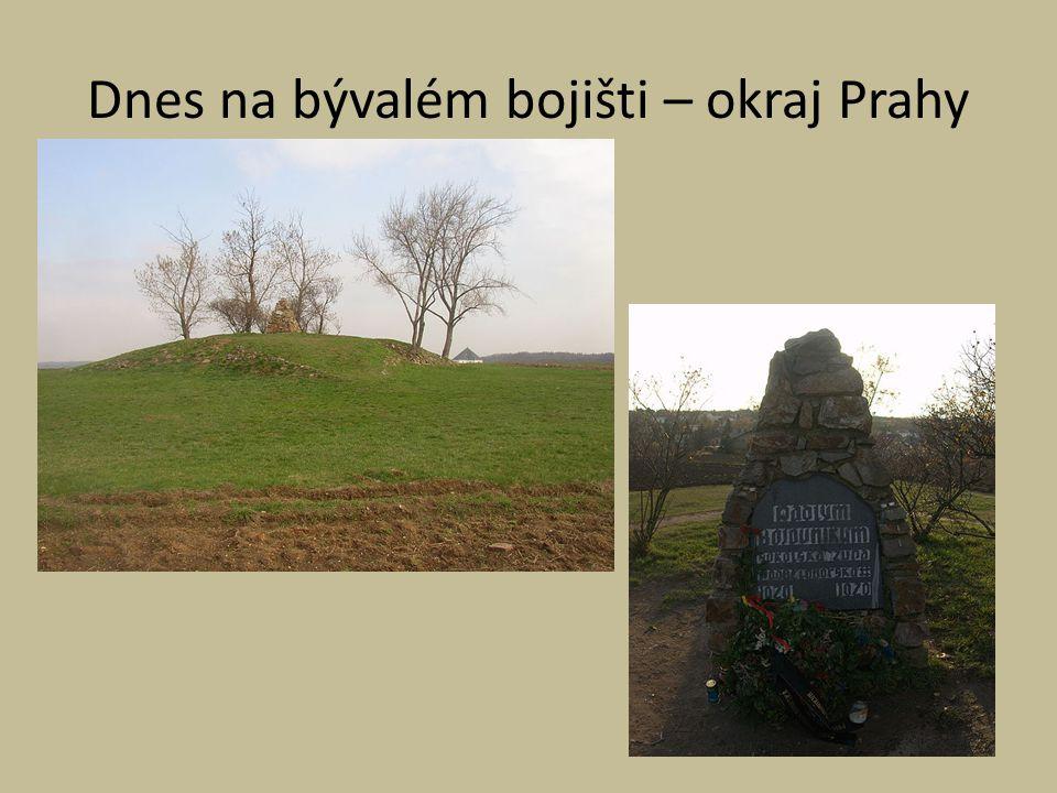 Dnes na bývalém bojišti – okraj Prahy