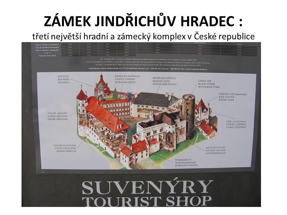 ZÁMEK JINDŘICHŮV HRADEC : třetí největší hradní a zámecký komplex v České republice